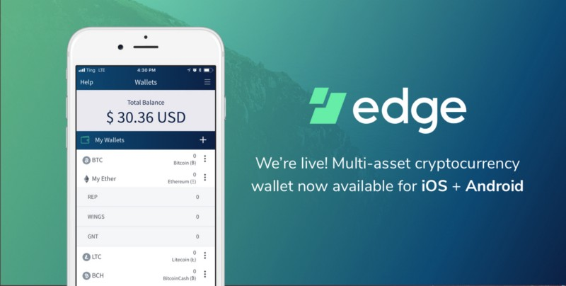 Edge Wallet Is Now Available For Download On IOS And Android