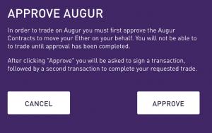 Approve Augur modal