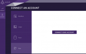 Augur: Connect an Ethereum account