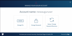 Changing Edge Login account info inside Augur