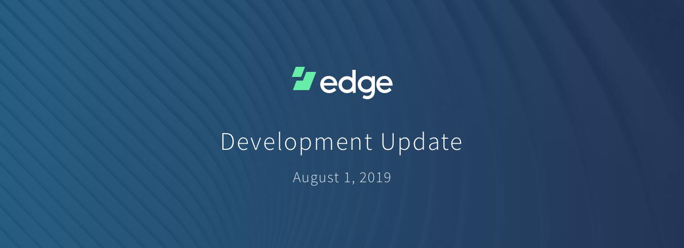 Edge | Edge Wallet Development Update - Edge